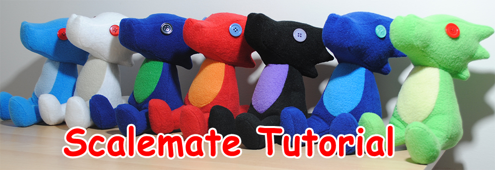 Metroidhat-Scalemate Plushie Tutorial part 1